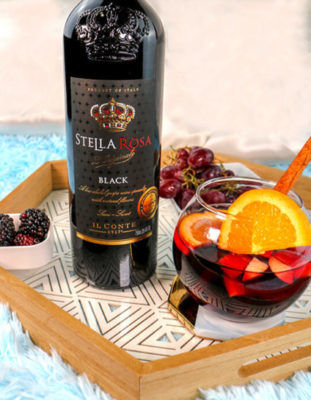 Black Sangria Cocktail